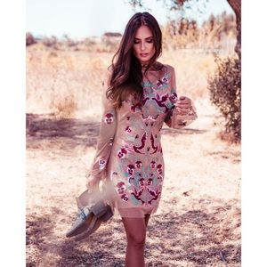 New Free People For Love & Lemons Dove Mini Dress